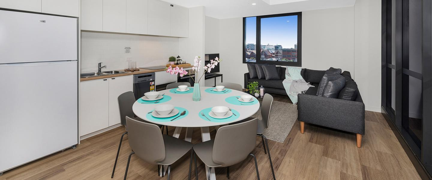 Dining Table at Waymouth Street 6-Bedroom Apartment