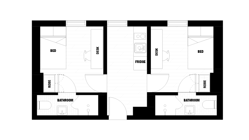 Merivale Floor Plan 2-Bedroom Premier Apartment