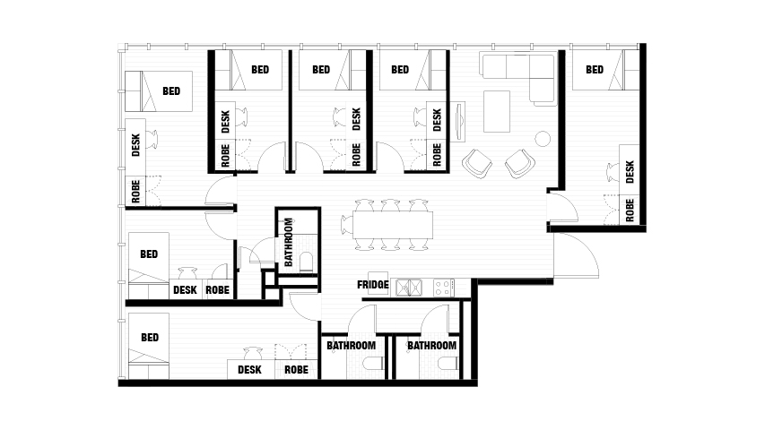 La Trobe Floor Plan, 7-Bedroom