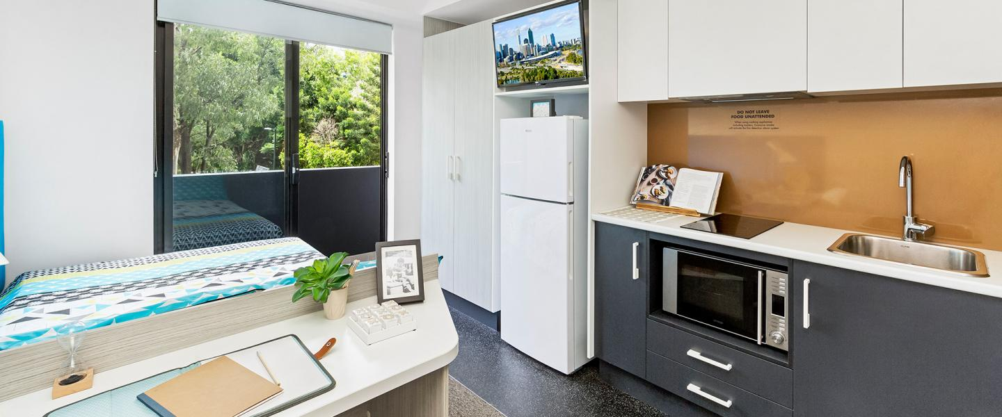 Regent Street Studio Plus Apartment Kitchen Area